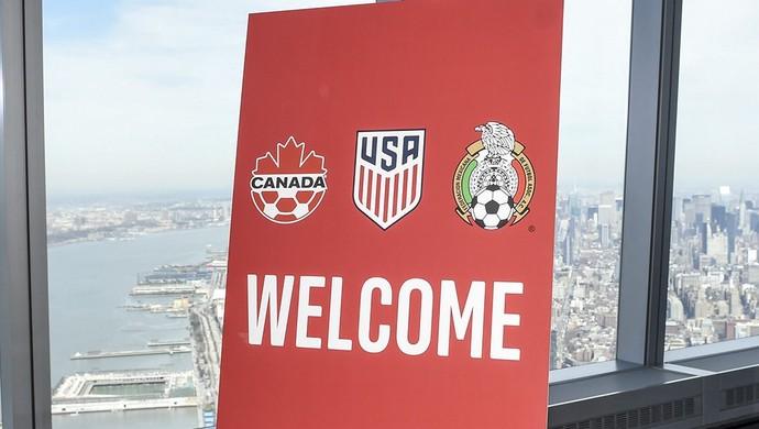 coletiva, Canadá, Estados Unidos e México, Copa 2026 (Foto: Twitter / @ussoccer)