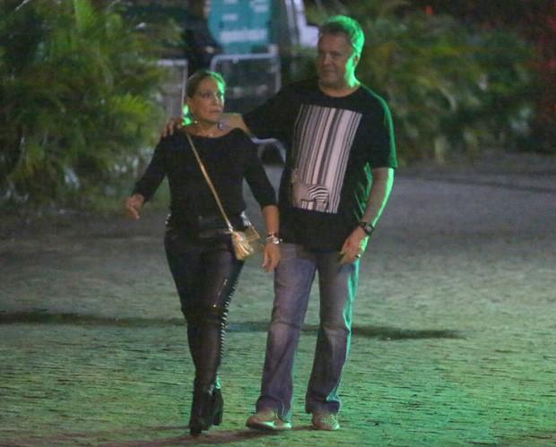 Susana Vieira e o filho, Rodrigo Otávio Cardoso (Foto: AgNews)
