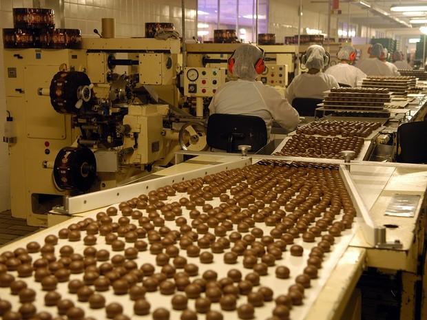 Fábrica de chocolates Garoto (Foto: Gildo Loyola/Arquivo/A Gazeta - 01/03/2007)