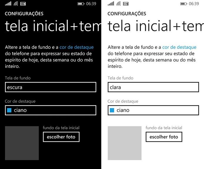 Windows Phone pode gastar mais energia quando usuário escolhe o fundo branco para a tela (Foto: Reprodução/Elson de Souza)