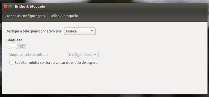 Altere o intervalo de tempo que o Ubuntu usa para bloquear o sistema (Foto: Reprodução/Filipe Garrett)