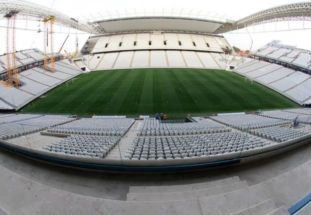 Arena Corinthians, no dia 12 de abril  (Foto: Marcelo D'Sants / Frame / Agência O Globo)