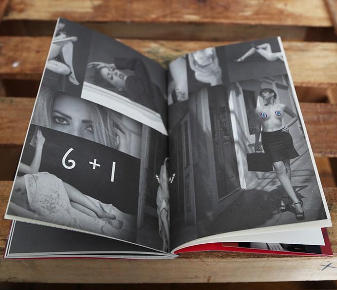 Em livro autoral de contos eróticos, candidata a sister já posou seminua (Foto: Arquivo Pessoal)