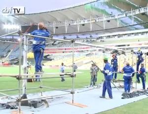Obras Maracanã (Foto: Reprodução/CBF TV)