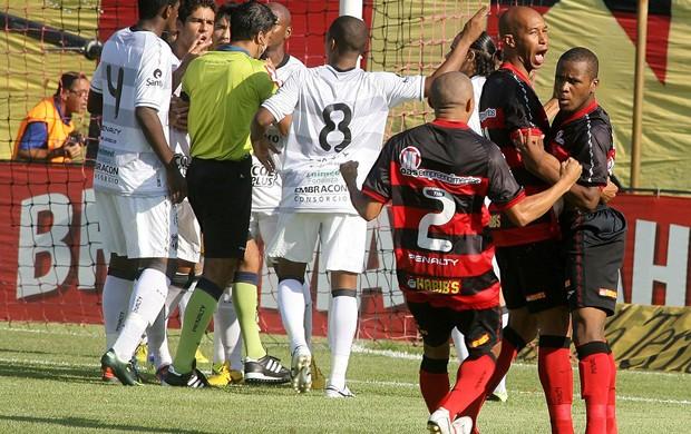 Jogadores comemoração Vitória (Foto: Edson Ruiz / Ag. Estado)