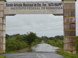 Entrada do Instituto Federal de Rondônia em Cacoal (Foto: Fernanda Bonilha/G1 RO)