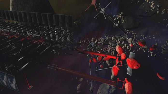 Mod Dying Space traz um percurso de parkour no espaço sideral para Dying Light (Foto: Reprodução/Steam)