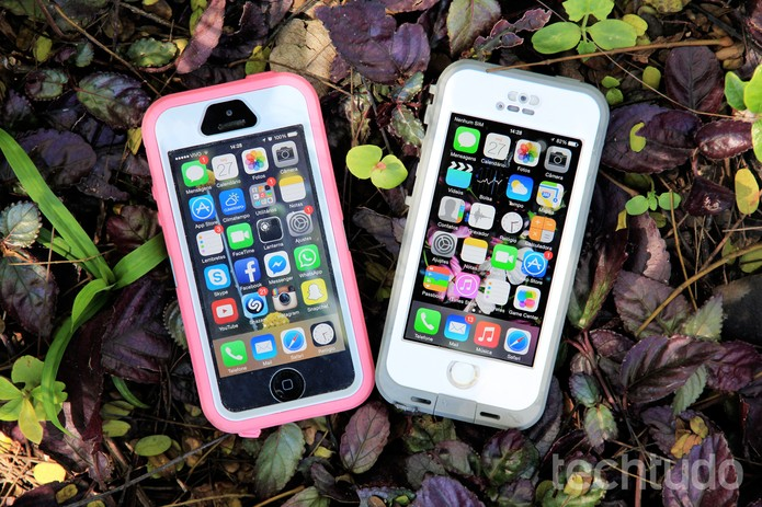 LifeProof e OtterBox são capinhas resistentes para celular (Foto: Anna Kellen Bull/TechTudo)