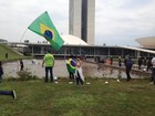 Protesto contra Dilma em Brasília gera 1,5 tonelada de lixo