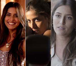 Maria Joana em três momentos: Flor do Caribe (2013), Malhação Sonhos (2014) e Além do Tempo (2015) (Foto: Gshow / TV Globo)