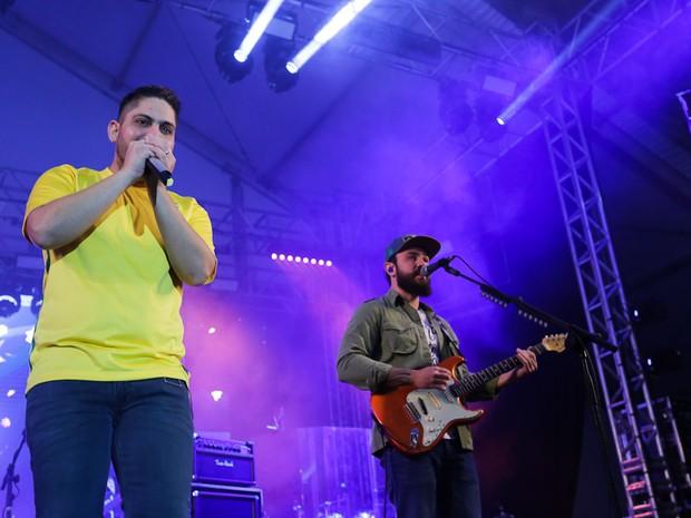 Jorge e Mateus em show em São Paulo (Foto: Claudio Augusto/ Brazil News)