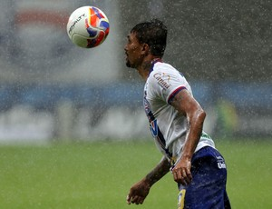Kieza do Bahia na chuva (Foto: Felipe Oliveira/EC Bahia/Divulgação)