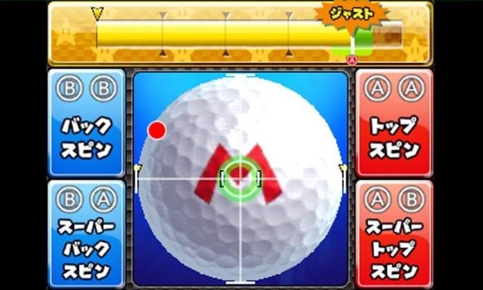 Controles de Mario Golf podem ser realizados na touchscreen (Foto: Reprodução/Nintenderos)
