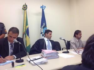 Segunda audiência de instrução aconteceu nesta quarta-feira (13) no Fórum de Barra do Piraí, RJ (Foto: Paola Fajonni/G1)