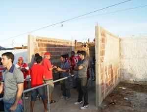 Nova bilheteria do Estádio Barretão, em Ceará-Mirim (Foto: Augusto Gomes)