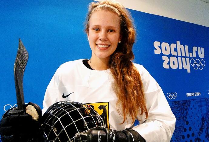 Tanja Eisenschmid jogadora de hóquei da Alemanha (Foto: Helena Rebello)