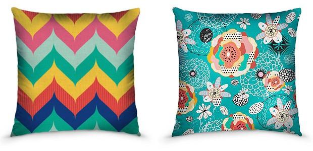 O The Bazaar tem grande variedade de capas de almofadas estampadas, como as de Juliana Curi Design, 56 reais cada (Foto: Divulgação)