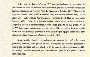 FPF-PE vai fazer vistoria nos gramados dos times da primeira fase do Estadual