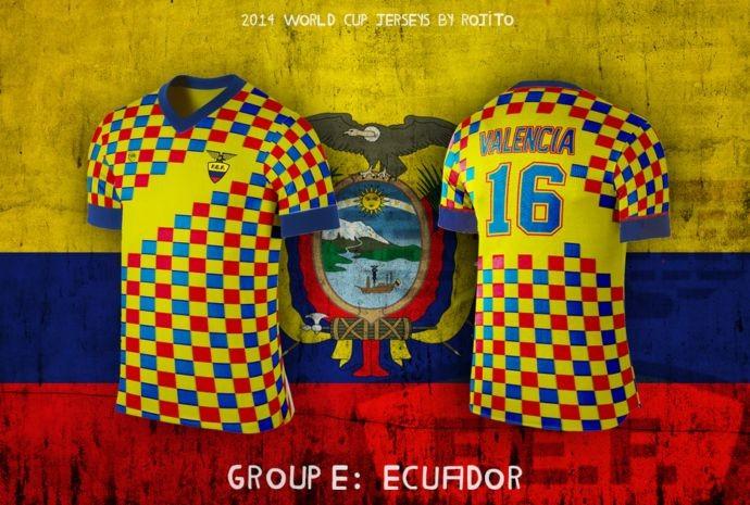 Blog da Copa - design camisa do Equador