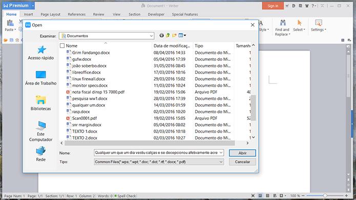 Compatibilidade com documentos do Office é de boa qualidade nas duas alternativas (Foto: Reprodução/Filipe Garrett)