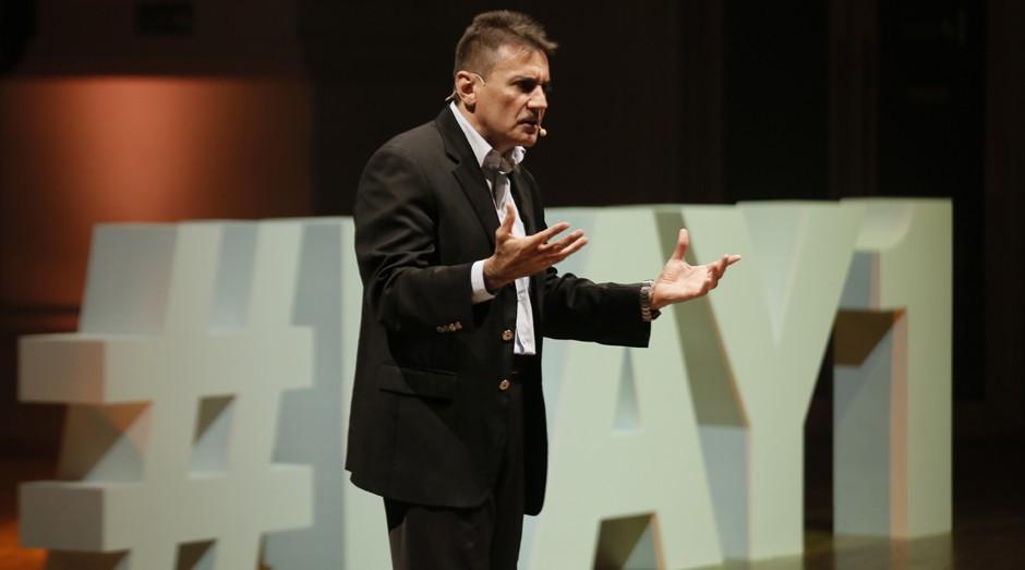 Pedro Lima, da 3 Corações, durante o Day1 (Foto: Julia Yazbek)