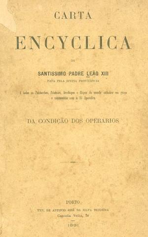 Encíclica Rerum Novarum (Foto: Reprodução)