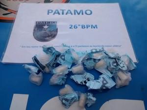 Parte da droga estava em um hidrômetro (Foto: Divulgação/Polícia Militar)