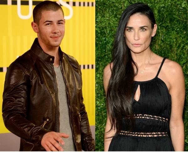 Nick Jonas e Demi Moore (Foto: Getty Images)