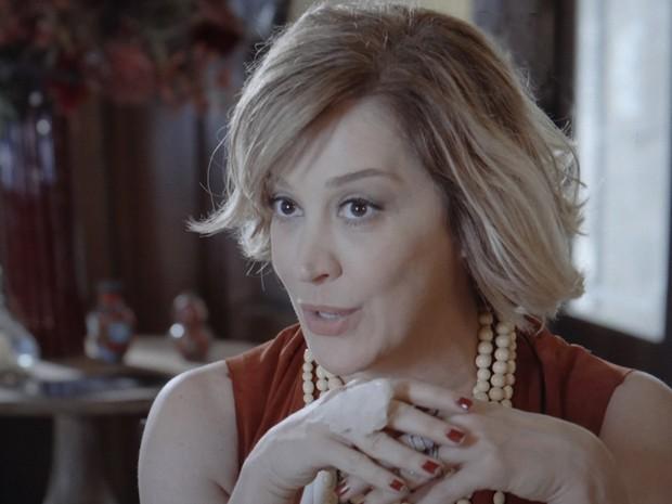 Samantha quer saber o motivo do encontro (Foto: TV Globo)