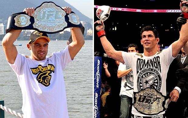 montagem UFC Renan Barão e Dominick Cruz (Foto: Getty Images)