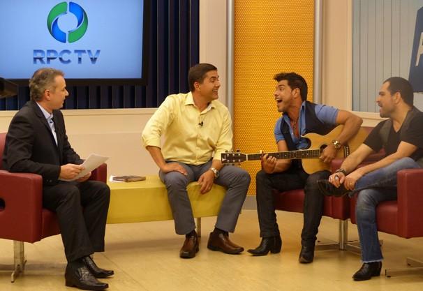 Paraná TV Zezé di Camargo e Luciano  (Foto: Divulgação/ RPC TV)