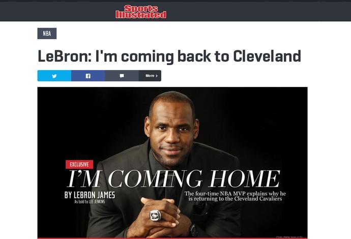 Reprodução LeBron James sports Illustrated (Foto: Reprodução)