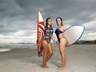Joana Machado posa em dia de surfe com a filha e diz: 'Ela me dá bronca'