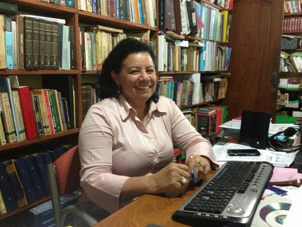 Sandra Maria Feliciano da Silva foi pré-selecionada para viajar ao Planeta Marte (Foto: Ivanete Damasceno/G1)