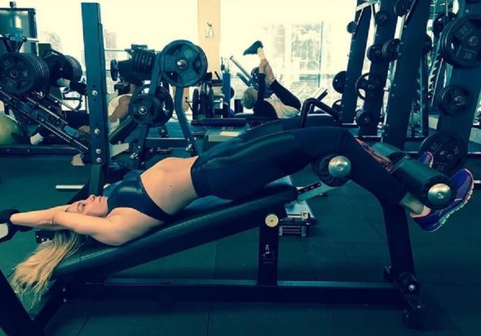 Dani Winits gosta de praticar atividades físicas  (Foto: Arquivo Pessoal)