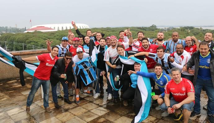 gre-nal 406 grêmio inter internacional final gauchão beira-rio torcida churrasco (Foto: Diego Guichard/GloboEsporte.com)