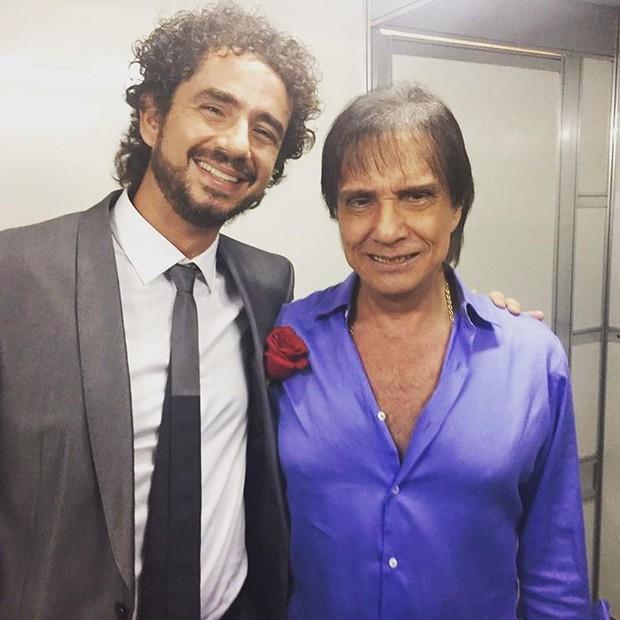 Felipe Andreoli e Roberto Carlos (Foto: Reprodução/Instagram)