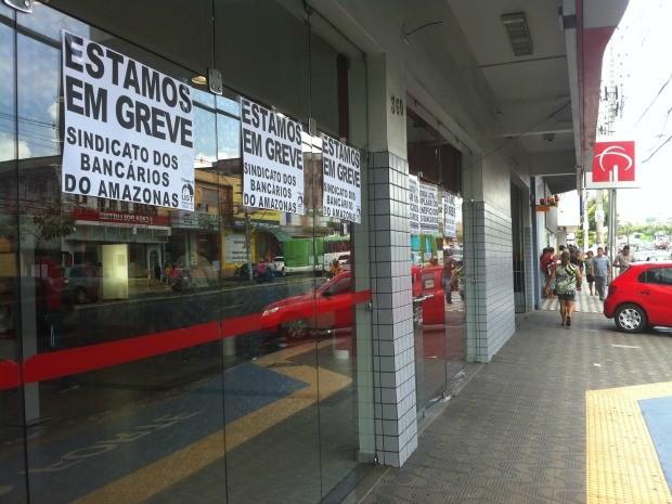 De acordo com a categoria, a greve é por tempo indeterminado (Foto: Camila Henriques/G1 AM)