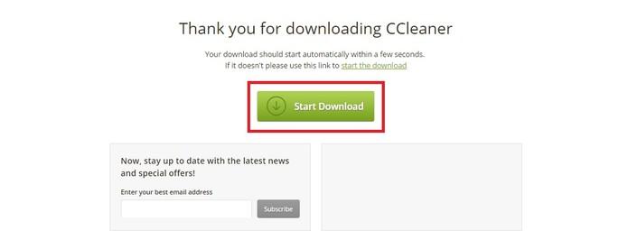 Caso o download não inicie, clique em Start Download (Foto: Reprodução/Juliana Pixinine)