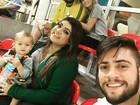 Preta Gil leva família para acompanhar fase classificatória da ginástica rítmica