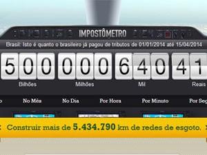 Impostômetro atingiu marco de R$ 500 bilhões nesta terça (Foto: Reprodução)