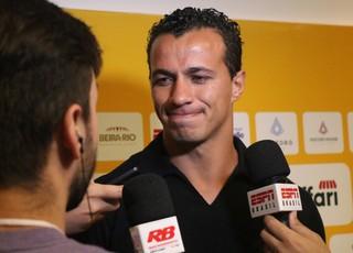 Leandro Damião durante evento do Lance de Craque (Foto: Eduardo Deconto)