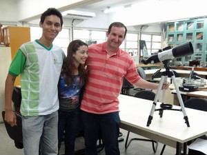 Pernambucanos vo para olimpadas de Astronomia (Lorena Aquino/G1)