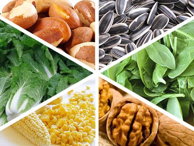 Alimentos vitamina E, nutrição eu atleta (Foto: Editoria de Arte / Globoesporte.com)