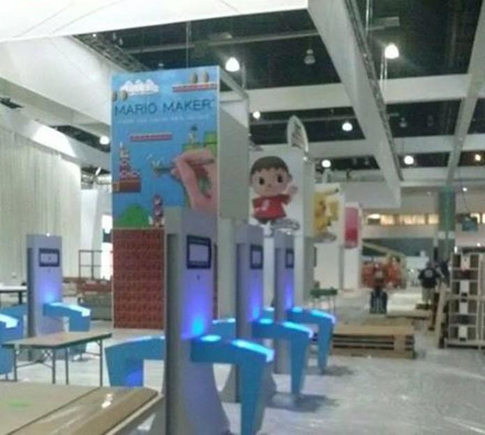 Suposta imagem do estande da Nintendo na E3 2014 mostra Mario Maker. (Foto: Reprodução/ Nintendo Enthusiast)