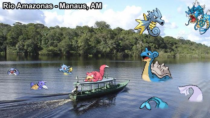 Pokémons de água ficam perto de grandes rios e outros corpos de água em Pokémon Go (Foto: Reprodução/Rafael Monteiro)