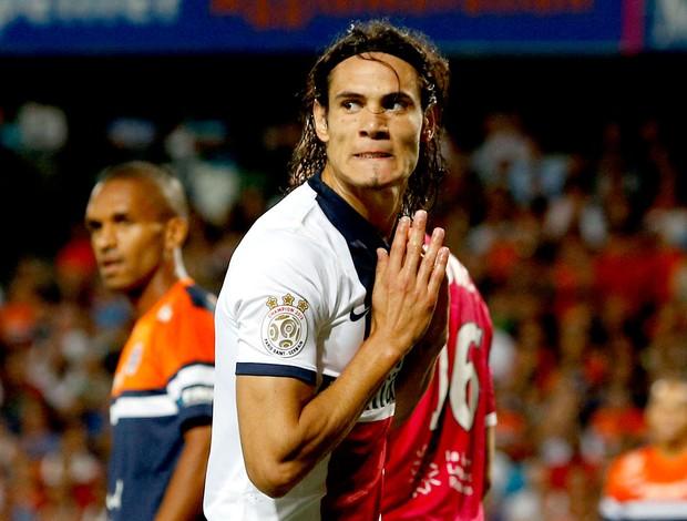Cavani jogo PSG contra Montepellier (Foto: Reuters)