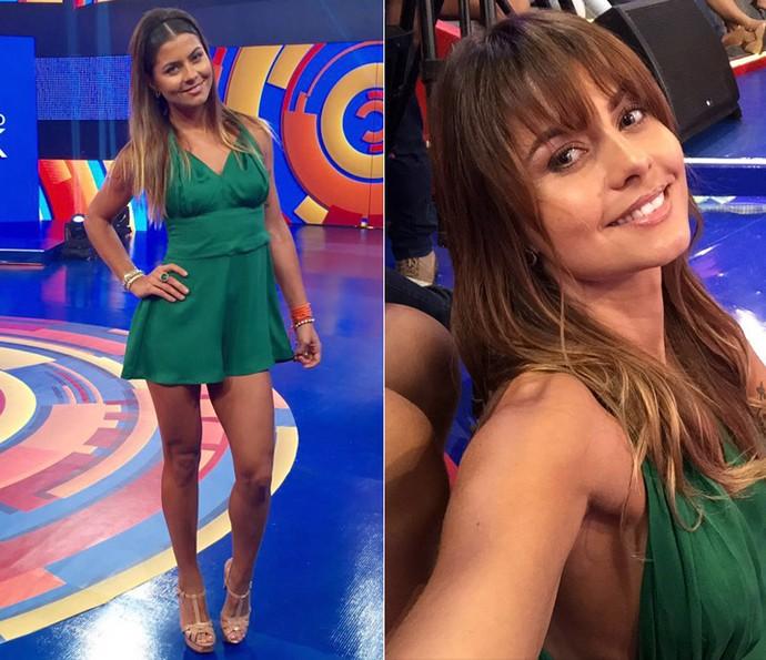Bruna Salvatori decidiu vestir verde na gravação! (Foto: Arquivo Pessoal)