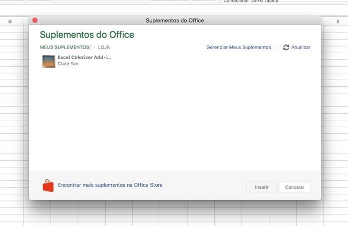 Gerenciador de Suplementos do Excel (Foto: Reprodução/André Sugai)