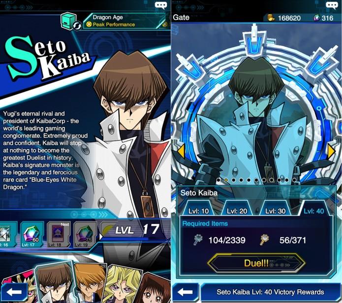 Yu-Gi-Oh! Duel Links: Seto Kaiba pode ser duelista inicial ou aparecer no Stage 15 (Foto: Reprodução/Vinícius Mathias)